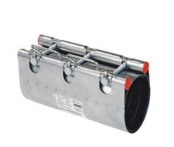 Муфта ремонтная Clamp d.210 (210-230) STRAUB NBR/ES, 2 замка, L=300, 382-210-300