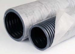 Труба дренажная ПНД д.110 SN 4 (одностен.) с перфорацией в фильтре, по 50 м