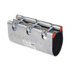 Муфта ремонтная Clamp d.108 (108-128) STRAUB NBR/ES, 2 замка, L=200, 382-108-200